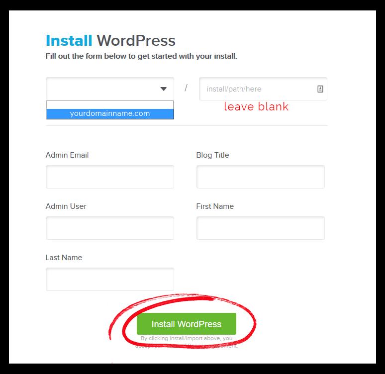 quick install wordpress music website